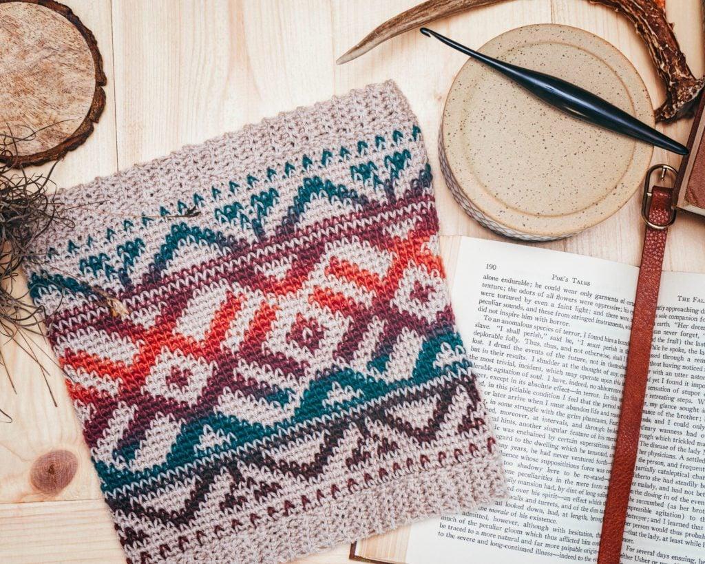 Boho Desert cowl from the Crochet Foundry Fall 2021 Edition
