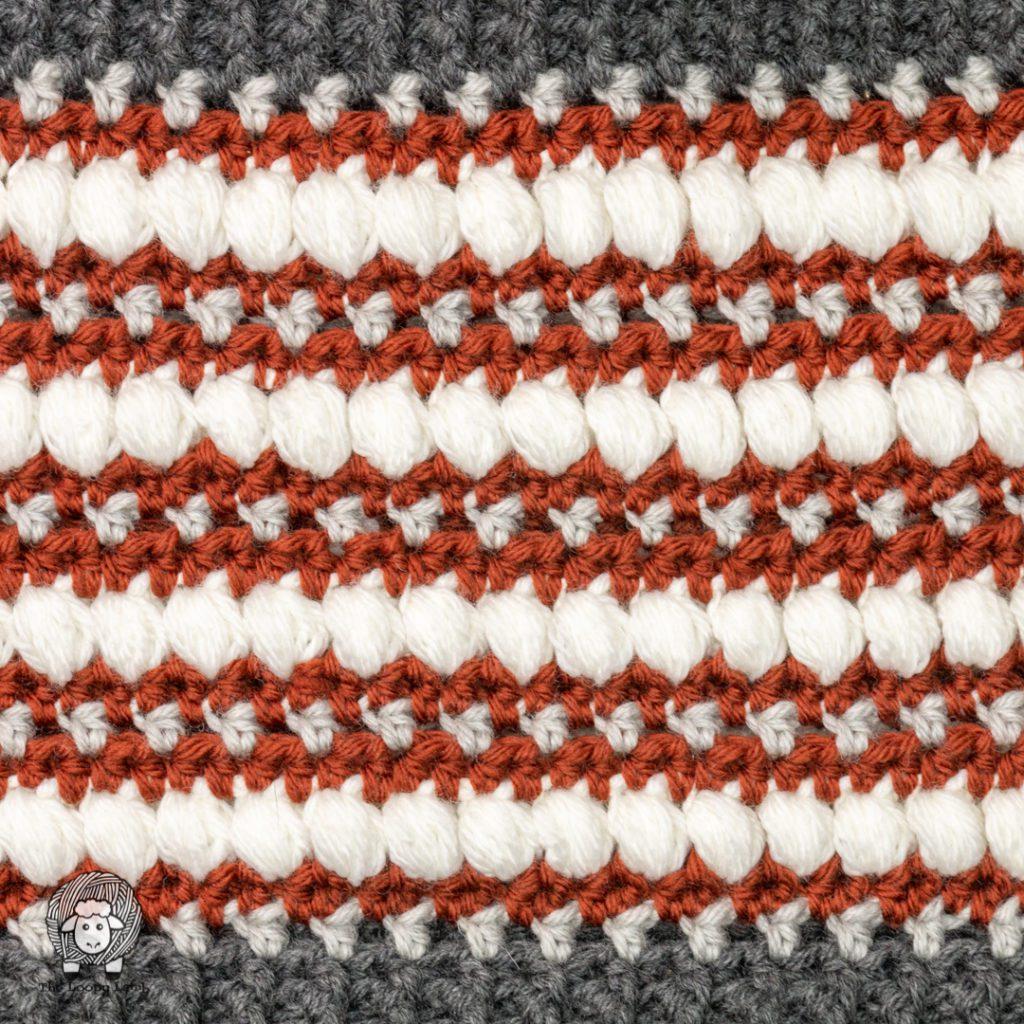 close up of the texture of this free crochet pattern#wecrochetofficial #wecrochet #stitchandhustle #2021StitchAndHustleBlogHop