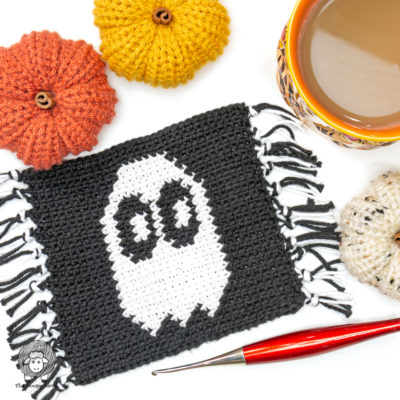 Free Crochet Halloween Coaster Pattern – The Ghoster Coaster