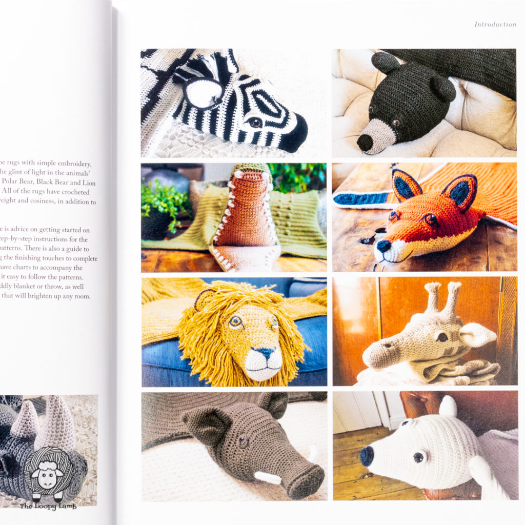 collage of animal rug samples found in the book by Vanessa Mooncie being reviewed.