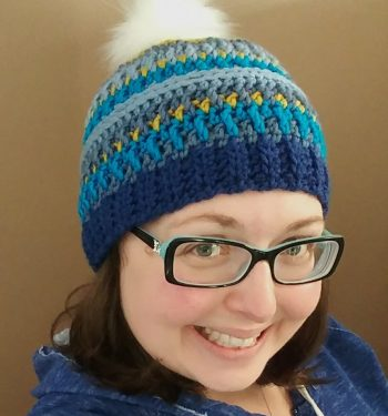Arctic Gem Beanie - The Loopy Lamb Free Crochet Hat Pattern Made With Caron X Pantone Yarn